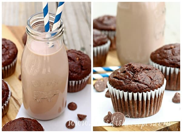 Double Chocolate Banana Muffins