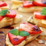 Strawberry Crostini with Gouda & Honey Balsamic