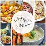 Easy Meal Plan Sunday Week {45}