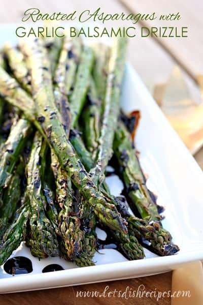 Roasted Garlic Balsamic Asparagus