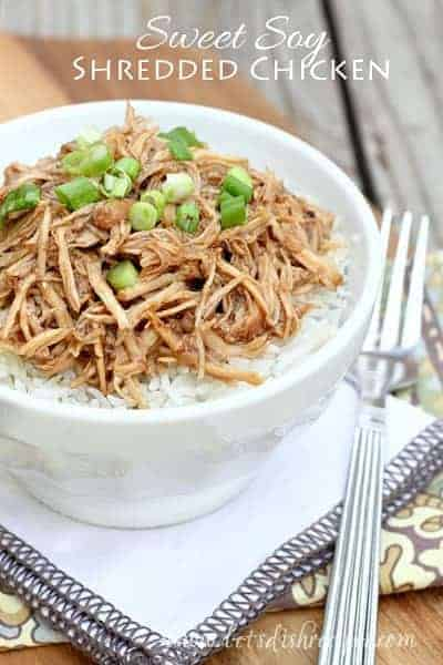 Sweet Soy Shredded Chicken (Slow Cooker)