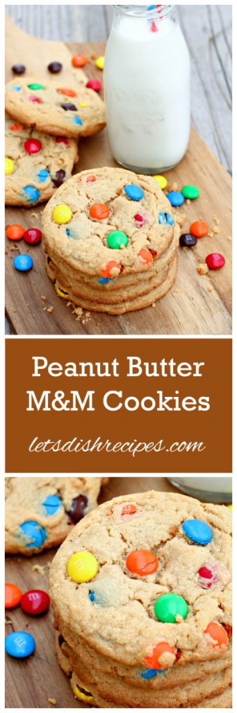 Big Peanut Butter M&M Cookies