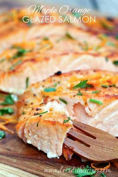 Orange Maple Glazed Salmon