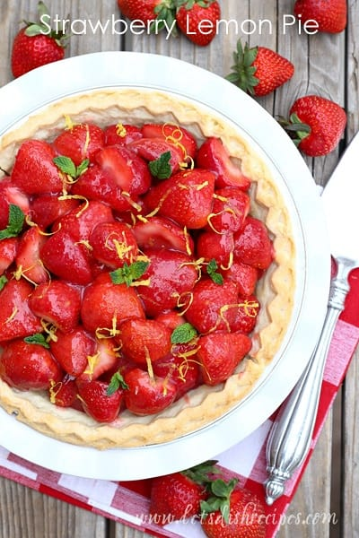 Strawberry Lemon Pie