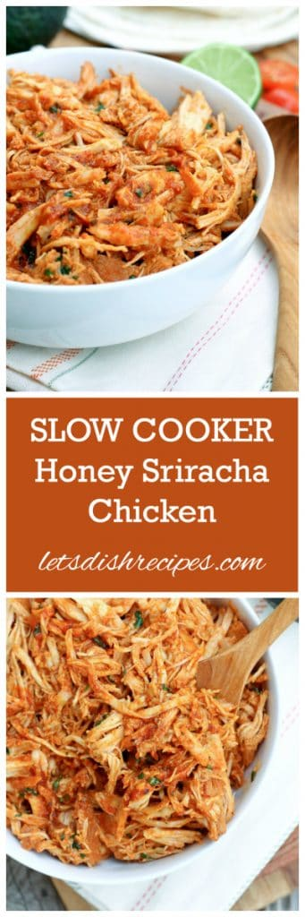 Slow Cooker Honey Sriracha Chicken