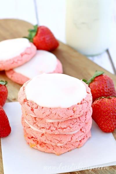 Easy Strawberry Lemonade Cookies