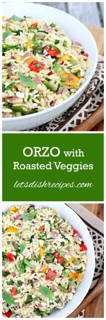 Orzo with Roasted Veggies
