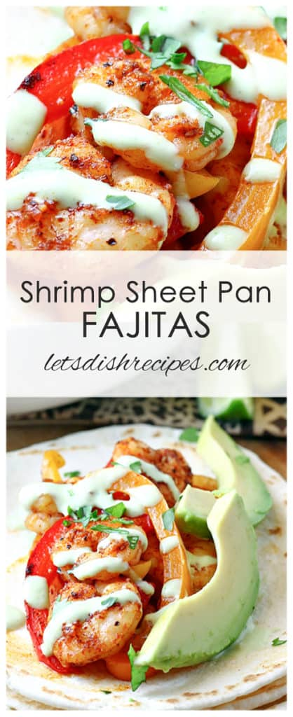 Shrimp Sheet Pan Fajitas