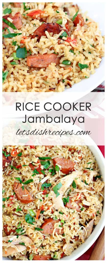 Rice Cooker Chicken and Sausage Jambalaya