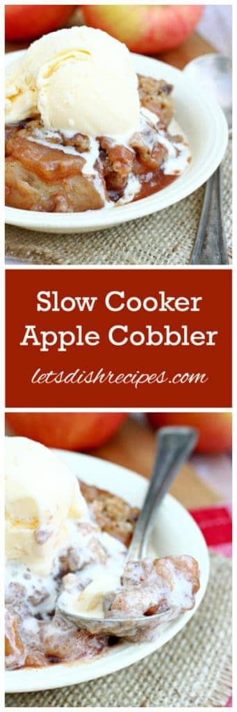 Slow Cooker Apple Cobbler Pin
