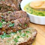 Herb and Garlic Meatloaf with Garlic Butter Sauce