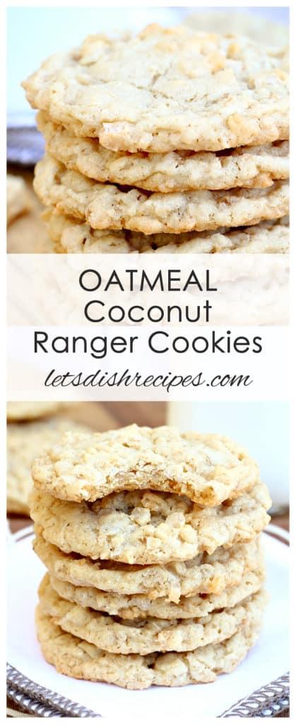 Oatmeal Coconut Ranger Cookies