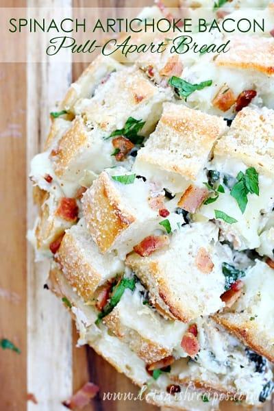 Spinach Artichoke Bacon Pull-Apart Bread — Let's Dish Recipes