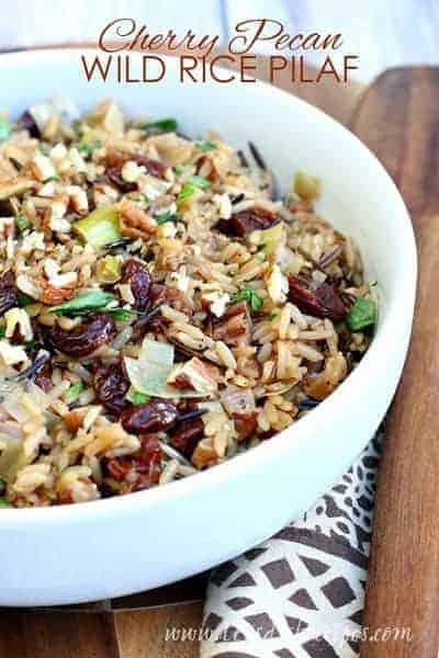 Cherry Pecan Wild Rice Pilaf