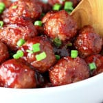 Quick Cranberry Glazed Meatballs