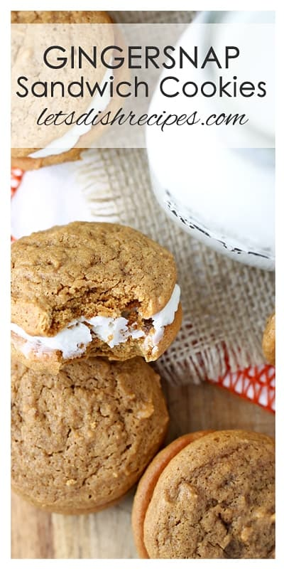 Gingersnap Sandwich Cookies with Coconut Orange Filling