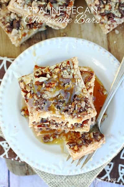 Praline Pecan Cheesecake Bars