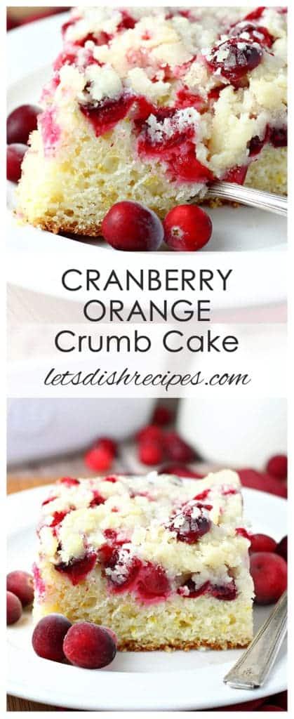 Cranberry Orange Crumb Cake