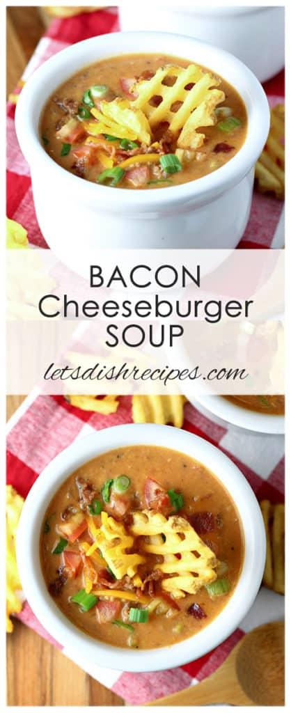 Slow Cooker Bacon Cheeseburger Soup
