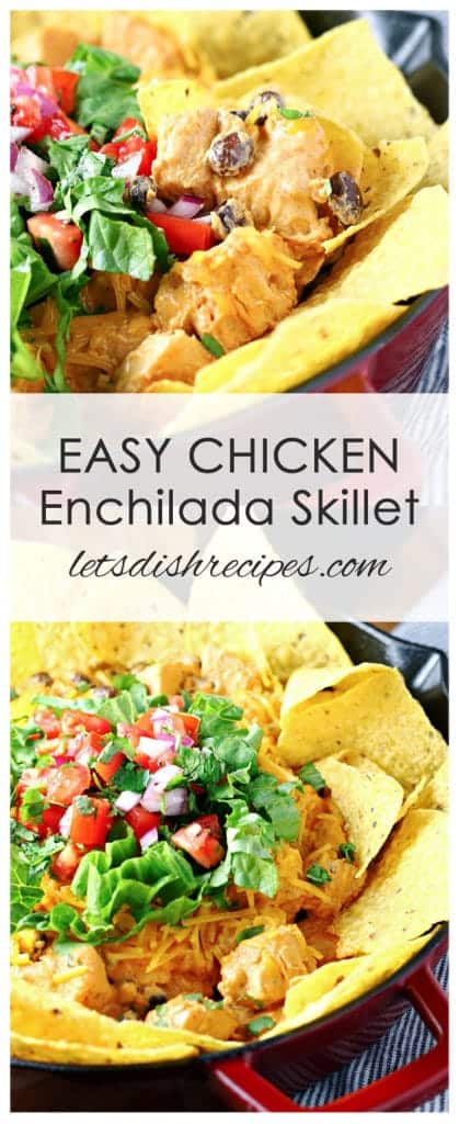 Easy Chicken Enchilada Skillet