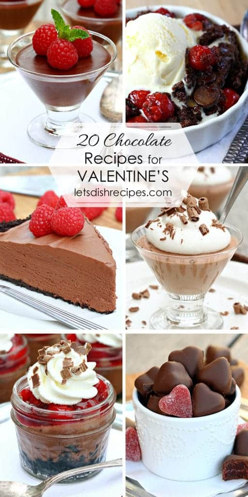 Twenty Chocolate Recipes for Valentine's Day