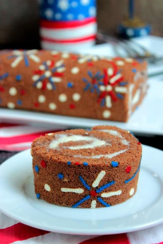 4th of July Fireworks Cake Roll {Big Bears Wife}