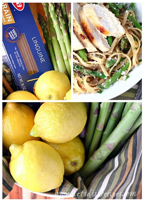 Lemon Olive Oil Linguine with Chicken and Asparagus