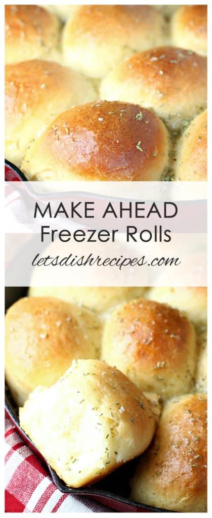 Make Ahead Freezer Rolls