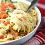 Tex Mex White Chicken Spaghetti