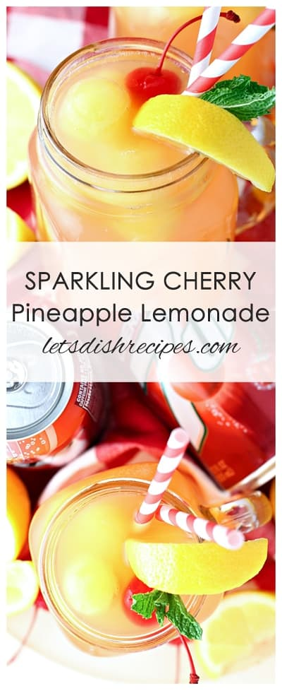 Sparkling Cherry Pineapple Lemonade