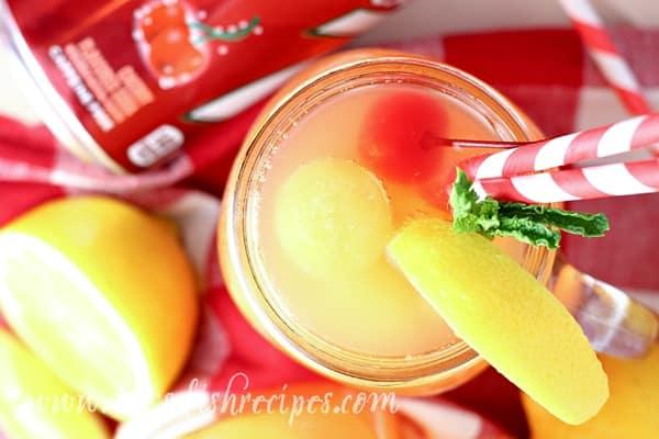 Sparkling Cherry Pineapple Lemonade