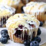 Lemon Blueberry Muffins with Lemon Glaze