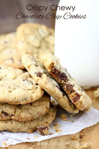 Crispy Chewy Chocolate Chip Cookies | Let's Dish Recipes