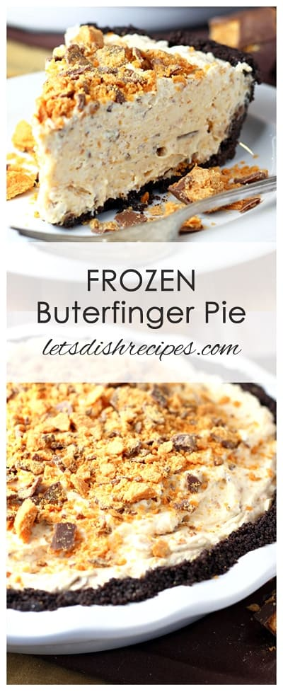 Frozen Butterfinger Pie