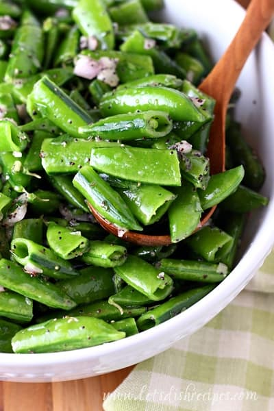Snap Pea Poppy Seed Salad