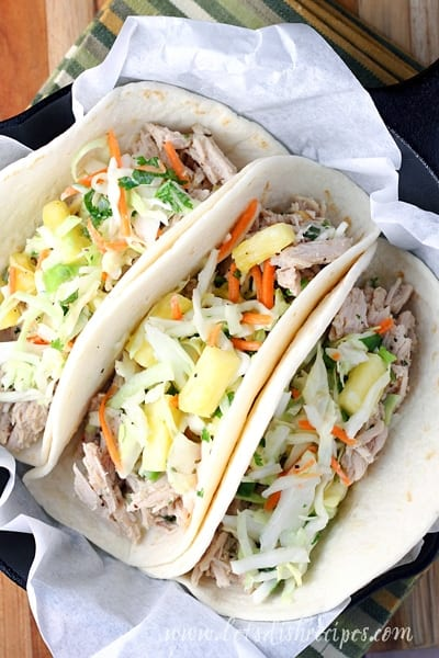 Slow Cooker Pineapple Green Chile Pork Tacos | Let's Dish ...