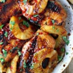 Grilled Pineapple Pepper Jelly Pork Chops