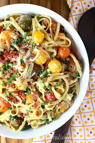 Tomato Bacon Carbonara