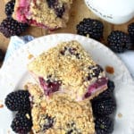 Blackberry Yogurt Oat Bars