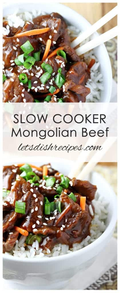 Easy Slow Cooker Mongolian Beef | Let's Dish Recipes