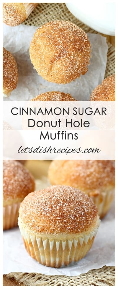 Cinnamon Sugar Donut Hole Muffins | Let's Dish Recipes