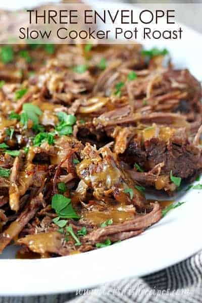 Three Envelope Slow Cooker Pot Roast