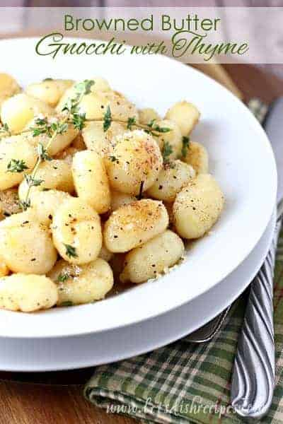 Browned Butter Gnocchi with Thyme