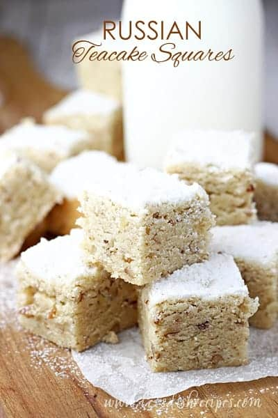 Russian Teacake Squares | Let's Dish Recipes