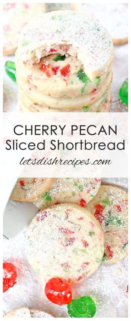 Cherry Pecan Sliced Shortbread Cookies