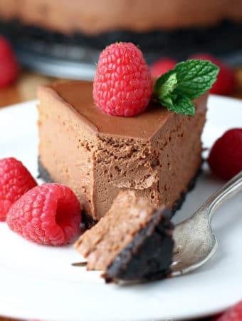 Pressure Cooker Chocolate Cheesecake