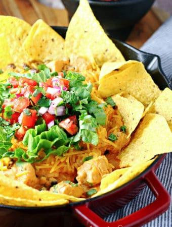 Easy Chicken Enchilada Skillet