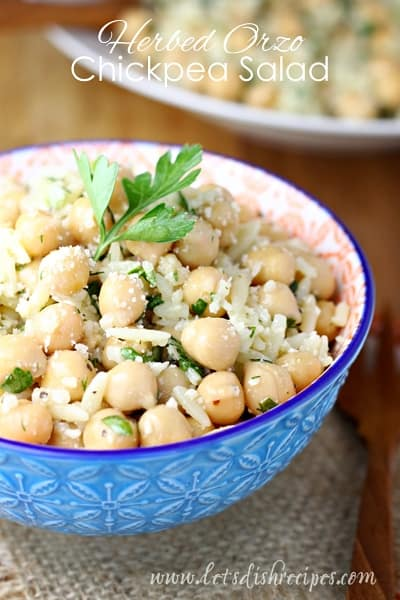 Herbed Orzo Chickpea Salad | Let's Dish Recipes
