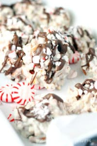 White Chocolate Peppermint Pretzel Candy