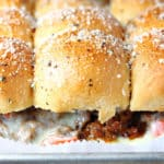 Cheesy Sausage Pizza Sliders
